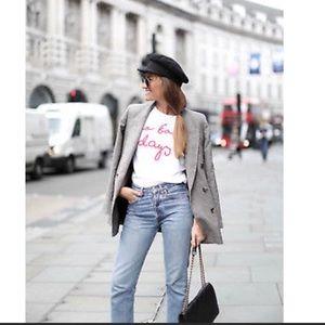 NWT Zara Plaid Double Breasted Oversized Blazer